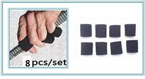A99Golf Sport différents doigts d'orteils Support en néoprène Noir 8/Set