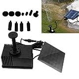 Roilois 1.2W Solar Garten Teichpumpe Teich Pumpe Springbrunnen Wasserspiel Solarwasserpumpe