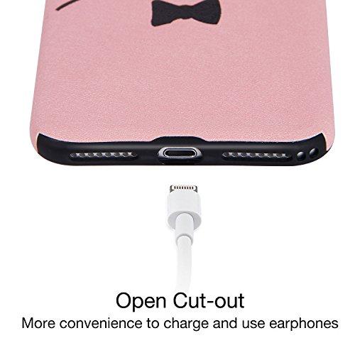 """iPhone 7 Hülle, Imikoko® iPhone 7 Rundumschutz Handy Hülle Schutzhülle Weich Silikon TPU Case Super Sweet Cute für Girl Frauen Mädchen(Weiß Küken, 4.7"""") Pinke Cat"""
