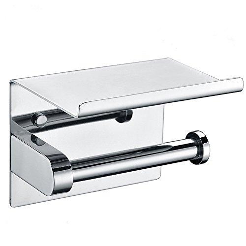 Aothpher 304 in acciaio inox a doppia porta carta igienica cromato rotolo portarotolo con ripiano