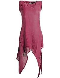 Vishes - Alternative Bekleidung - Asymmetrisches armloses Lagenlook Zipfelkleid