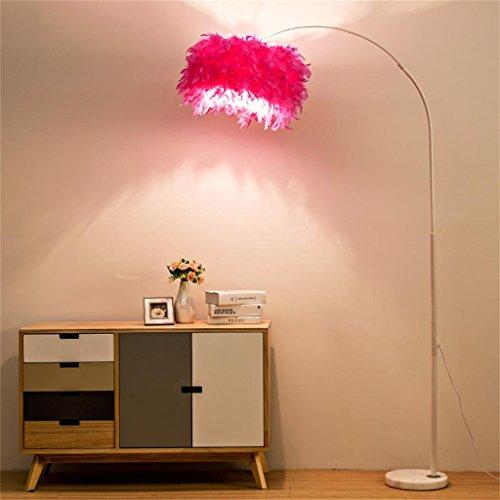 MEHE@ mode personnalité créatif Lampe de plancher Creative LED Feather Éclairage de salon Éclairage Lampadaires (Couleur : Rose red)