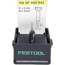 Festool 490941 - Fresa para ranurar HS, vástago 8 mm HS S8 D 3/8