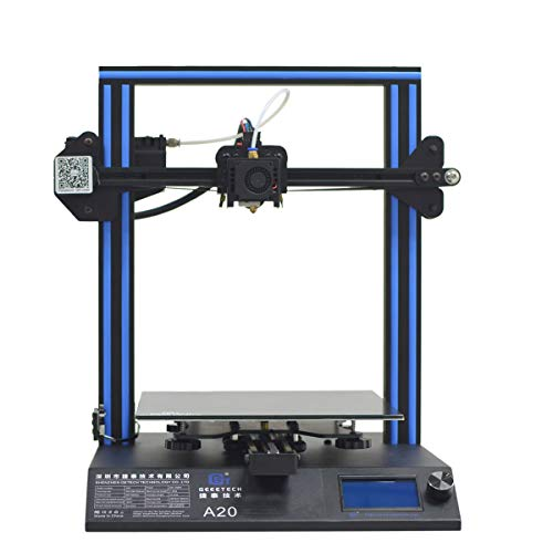 Geeetech A20 3D Drucker with Resume Print 255×255×255mm,Power Resume Filament Sensor Desktop 3D Printer, Gute Haftung auf dem Druckbett,Open source firmware, Unterstützt 3D Wifi Modul,3D Drucker Hohe Genauigkeit,Geringes Rauschen. - 2
