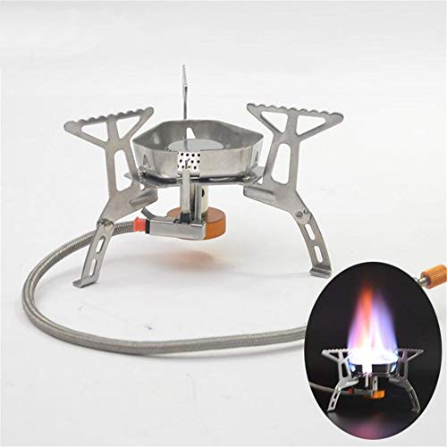 Leoie Mini Split Type Windproof Gas Stove for Outdoor Camping Picnic Fishing