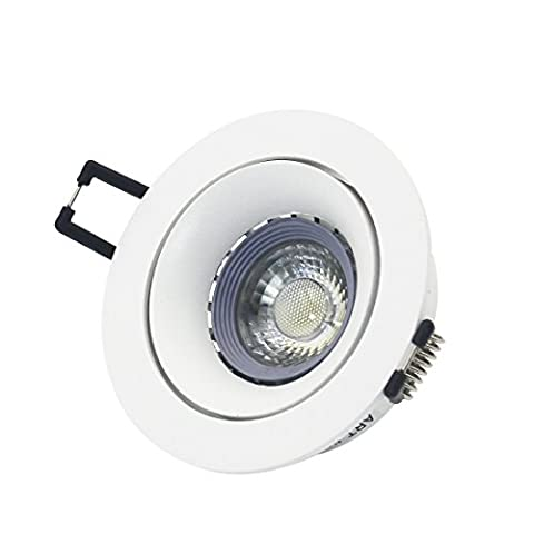 LED Recessed Ceiling Downlight Kit Including 75 Cut Out Lighting Trim,Cold White 12V GU5.3 MR16 6W LED Bulb,MR16 (Mr16 Trim)