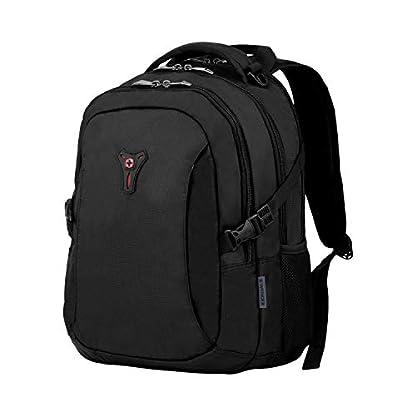 Wenger Sidebar Deluxe – Mochila para Ordenador portátil de 16″ y Compartimiento para Tablet de 10″, Color Negro