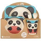 Coffret repas bambou panda pour enfant - La Chaise Longue - 36-2E-016