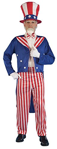 Mens American USA Uncle Sam Independence Day 4th July Fancy Dress Costume Outfit (One Size)