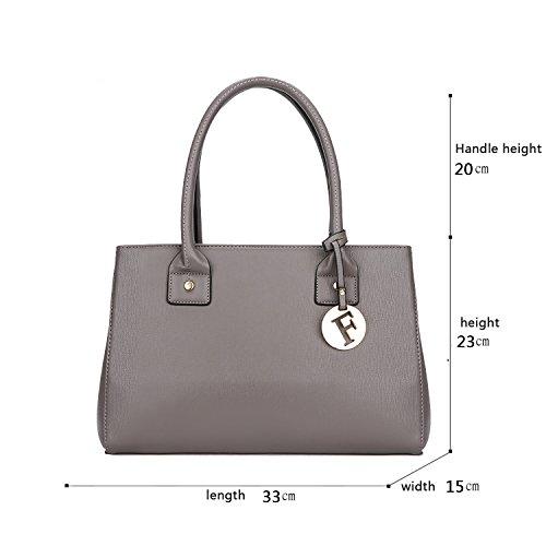 Sunas Sacchetto casuale del pendente del sacchetto del messaggero della spalla del sacchetto di spalla della borsa della nuova borsa delle donne retro Grigio chiaro
