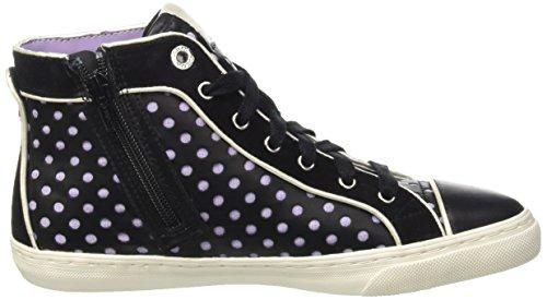 Geox D New Club B, Baskets Hautes Femme Noir