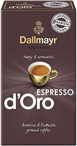 Dallmayr Kaffee Espresso d'Oro 250g gemahlen, Gemahlene Bohnen, 6er Pack (6 x 250 g)