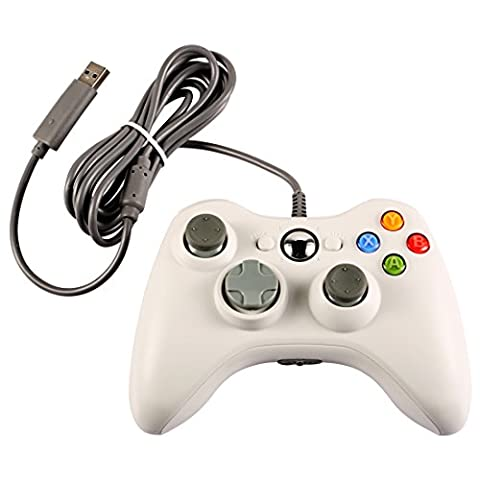 Wired USB Game Pad Controller Gamepad Joystick für Microsoft Xbox 360 PC Weiß