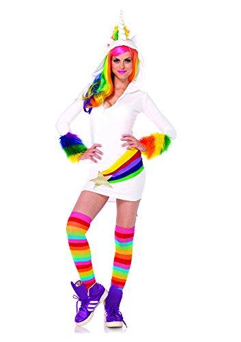 Gemütliche Einhorn Kostüm - Leg Avenue 85316 - Cozy Unicorn Kostüm, Größe M, weiß, Damen Karneval Fasching