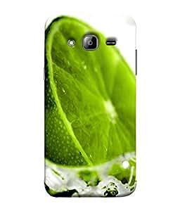 PrintVisa Designer Back Case Cover for Samsung Galaxy J7 J700F (2015) :: Samsung Galaxy J7 Duos (Old Model) :: Samsung Galaxy J7 J700M J700H (Tangy Tasty Cool Lemon Orange)