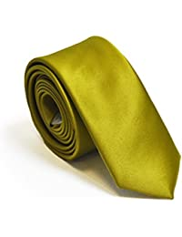 Willow Yellow 5cm Skinny Wedding Tie and Accessories
