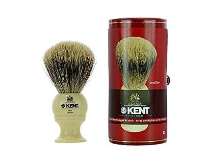 Kent BK2 Pure Badger Shaving Brush - White (PACK OF 1)
