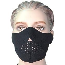 Mil-Tec Neopreno Media Cara Máscara Negro
