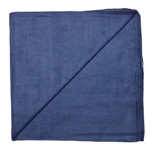 Superfreak® Baumwolltuch°Tuch°Schal°100x100 cm°100% Baumwolle, Farbe blau-navy