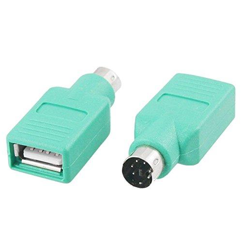 I59 Adapter PS2 PS/2 Stecker auf USB 2.0 Buchse Konverter für PC Maus Tastatur, ermöglicht den Anschluss von Maus oder Tastatur mit USB-Anschluss - Maus-usb-konverter
