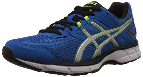 Asics Men's Gel-Galaxy 8 Electric Blue, Silver and Flash Yellow Mesh Running Shoes - 10 UK