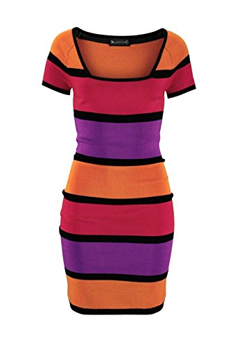 Laura Scott - Robe - Crayon - Opaque - Femme Multicolore Multicolore Multicolore - Multicolore