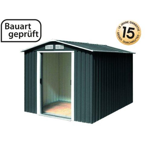Tepro Gartenhaus / Metallgerätehaus Riverton 6x8 anthrazit