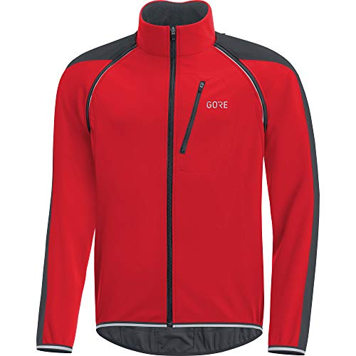 GORE Wear C3 Herren Zip-Off Jacke GORE WINDSTOPPER, XL, Rot/Schwarz Windstopper