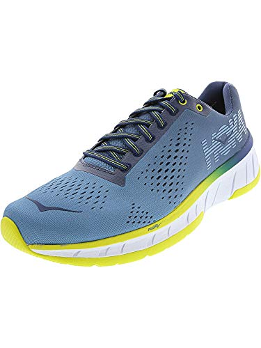 Hoka One Men's Cavu Niagara Blue/Vintage Indigo Ankle-High Mesh Running Shoe - 7.5M