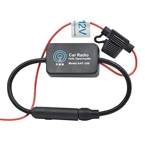 WEKON AUTO Auto Antennenverstärker 12-13dB Radio Antenne Signal Verstärker Verstärkung Audio Stereo AM/FM Antenne Signal Verstärker für Fahrzeug KFZ