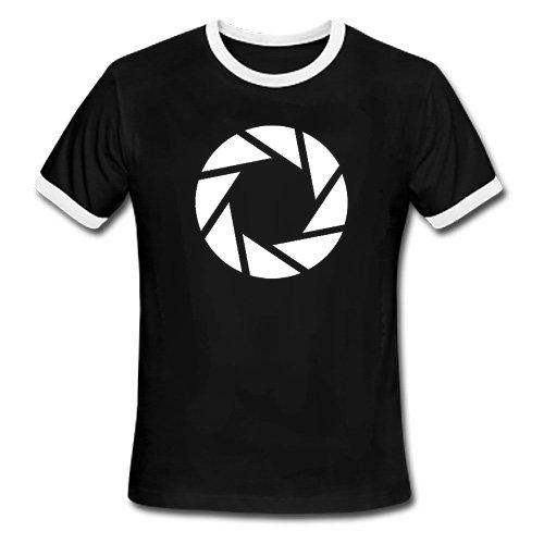 Portal 2 T-Shirt Aperture Symbol Size XL