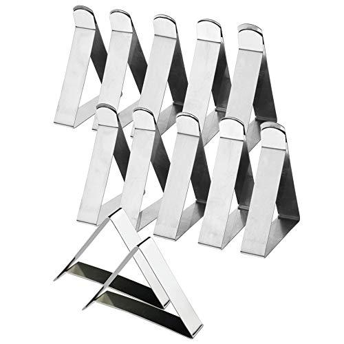 Manyo Lot de 12Pcs Plastique Transparent Nappe Clips avec Velcro /élastique Couverture Nappe