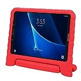LEADSTAR Samsung Galaxy Tab A 10.1 EVA Etui Poignée Stand Étui Enfants Housse Antichoc Protecteur Kids Coque Anti-Chocs pour Samsung Galaxy Tab A 10.1-pouces SM-T580 SM-T585(Rouge)