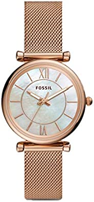 FOSSIL Women's Analogue Quartz Watch with Stainless Steel Strap ES505