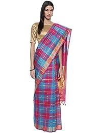 The Chennai Silks - Traditional Kora Silk Cotton Saree - Multicolor - (CCMYSC8758)