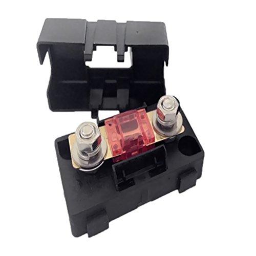 Dolity Kfz Auto Mini Ans Sicherungshalter Fuse Box Block Staubdichte Abdeckung - Ampere Auswählen - Schwarz - 30A Fuse Block-box