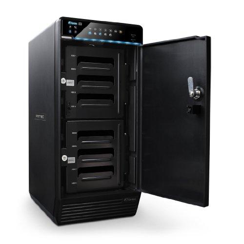 FANTEC QB-X8US3R 8x 8,9 cm (3,5 Zoll) 8TB externe Festplatte (SATA HDD, RAID, USB 3.0, eSATA) schwarz