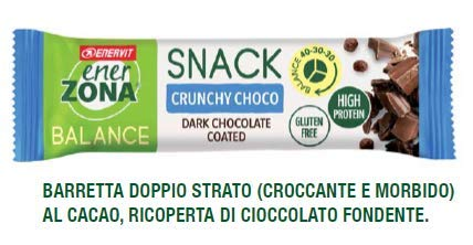 Enerzona snack 40-30-30 confezione da 30 barrette gusto crunchy choco