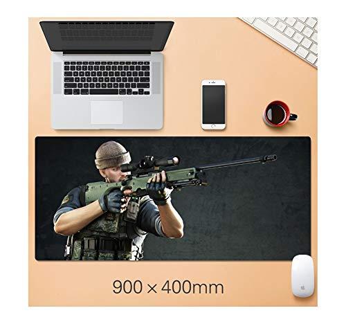 IGZNB Maus Kissen Spiel Machine Gun 900X400Mm Extra Große Verdickung Latch Für Computer Tischkissen Tastaturkissen, C Mauspad Mit -