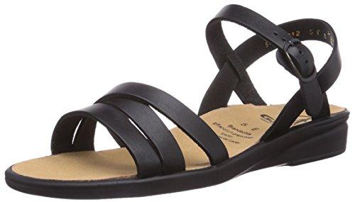 Ganter Sonnica Weite E 1-202811-0100, Sandales mode femme Noir