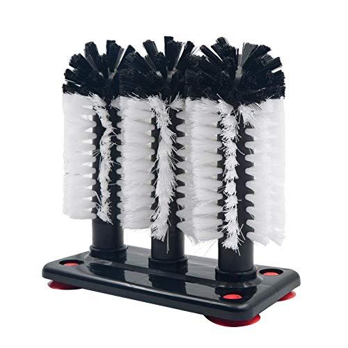 opf Glass Washer Cleaner , Weingläserbecher-Bürste , Glasreinigungsbürsten mit Saugnapf-Sockel für Bar, Küchen, Rotweingläser, Becher ()