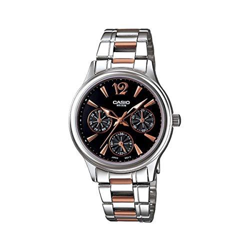 Casio Enticer Black Dial Women's Watch - LTP-2085RG-1AVDF (A846)