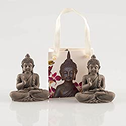 Pajoma Statuette de Bouddha 44361dans Une Pochette Cadeau décorative, Résine, Hauteur 2cm