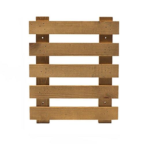 Wssf- fioriera a parete balcone in legno massello a più strati fiore rack soggiorno parete appeso a parete vaso da fiori display holder dimensioni facoltativo ( dimensioni : 25*30cm )