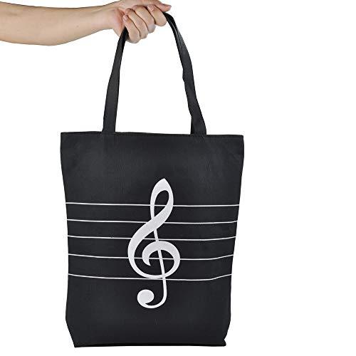 High Fashion Tote Handtasche (Wiederverwendbare Einkaufstaschen, Musik-Tasche, Canvas, ideal für Einkaufen, Laptop, Schulbücher SIZE:15.5