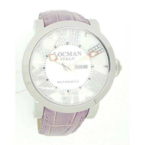 Montre Locman Toscano 029300whndnctoscano automatique acier Quandrante Blanc Bracelet Cuir