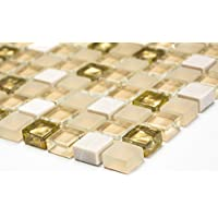 1 x 1 cm f/ür eigene Mosaik-Herstellung und Heimdekoration Sinblue 500 St/ück Glasmosaik-Fliesen gemischte Farben 300 g