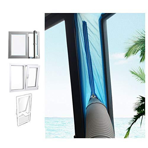 Fensterdichtung Für Tragbare Klimaanlagen, Mobile Klimaanlage Fenster Vent Kit Air Exchange Guards Mit Reißverschluss Und Klebeverschluss, 400cm, THBEIBEI