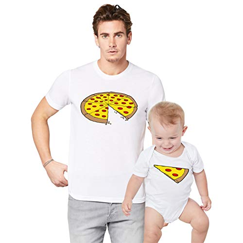 Father Daddy Daughter Dad Son Matching T Shirts One Slice Missing Pizza