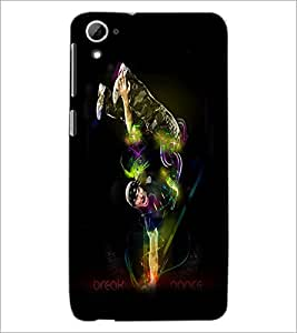 PrintDhaba Break Dance D-1177 Back Case Cover for HTC DESIRE 826 (Multi-Coloured)